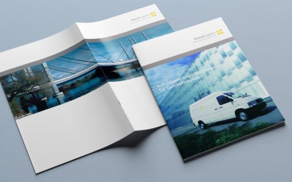 Broschüre und Mappe Parcel-Logistics