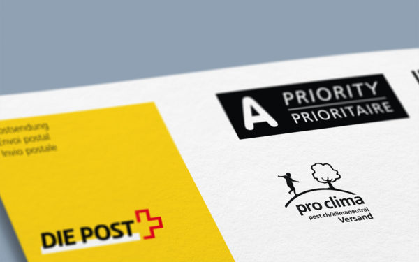 Label «pro clima» der Post