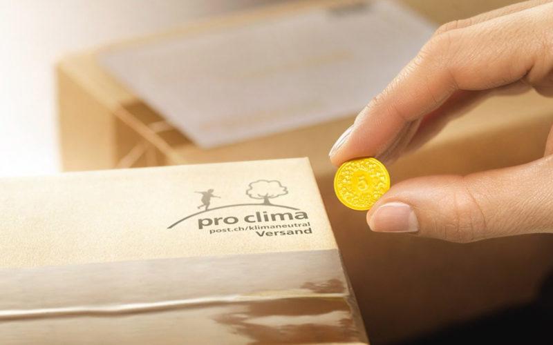 Label «pro clima» der Post