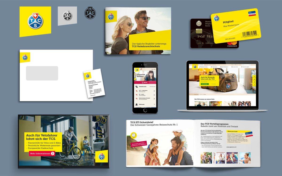 Markenauftritt TCS mit Corporate Design, Logodesign, Werbemittelkonzept und Logo
