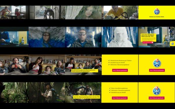 Werbeikampagnen mit TV-Spots TCS