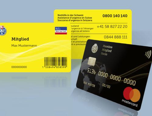 Mitglieder- und Kreditkarten-Design TCS