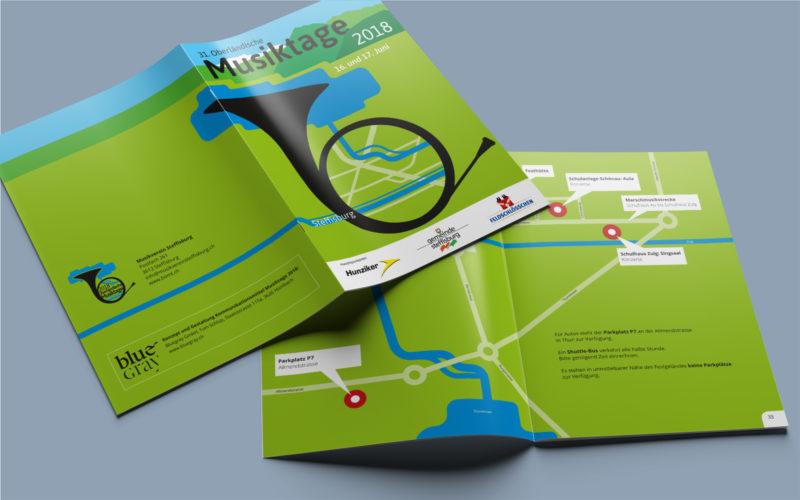 Event-Branding inkl. Programmführer (Broschüre) der Musiktage mit 68 Seiten Umfang